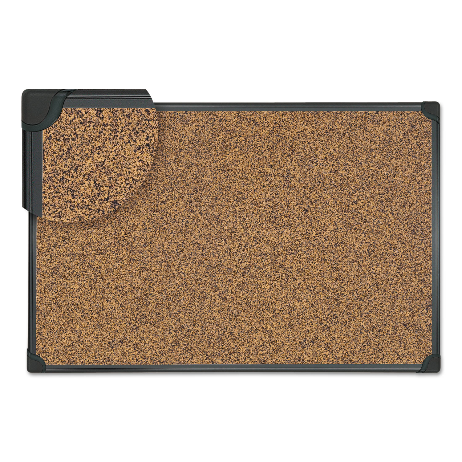 Tech Cork Board 36 X 24 Black Plastic Frame