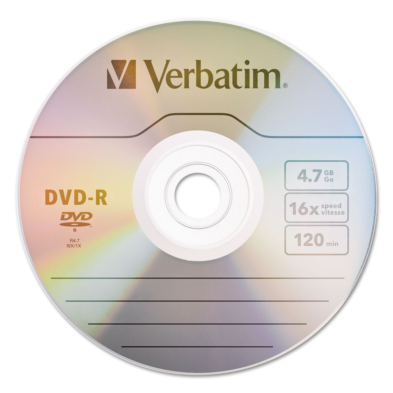 dvd r discs by verbatim ver95102. Black Bedroom Furniture Sets. Home Design Ideas