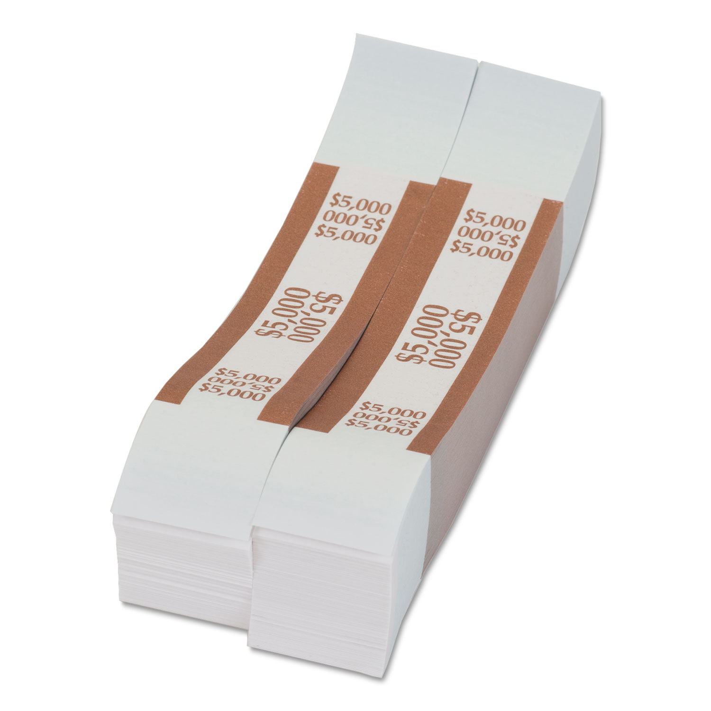 $50 in Dollar Bills Orange 1000 Bands//Box Self-Adhesive Currency Straps
