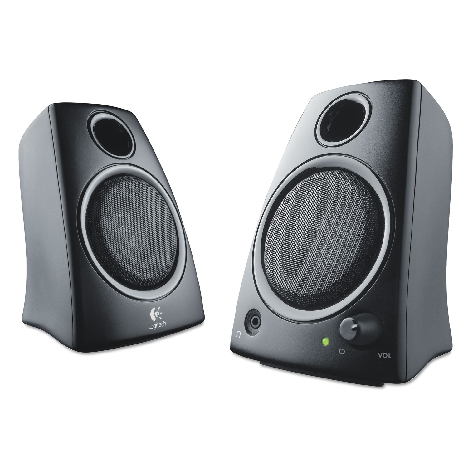 Z130 Compact 2 0 Stereo Speakers, 3 5mm Jack, Black