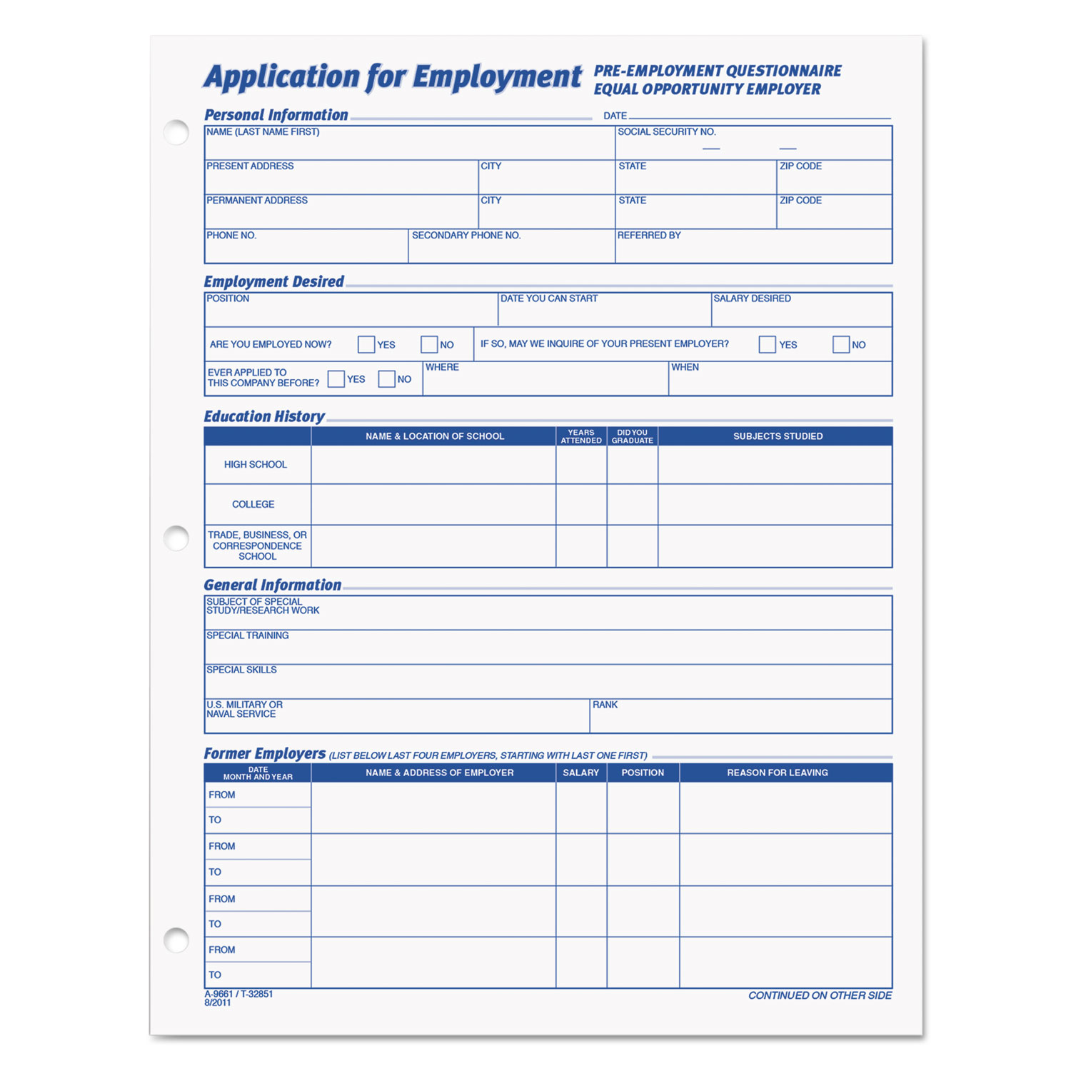 employee application form by tops top32851 ontimesupplies com