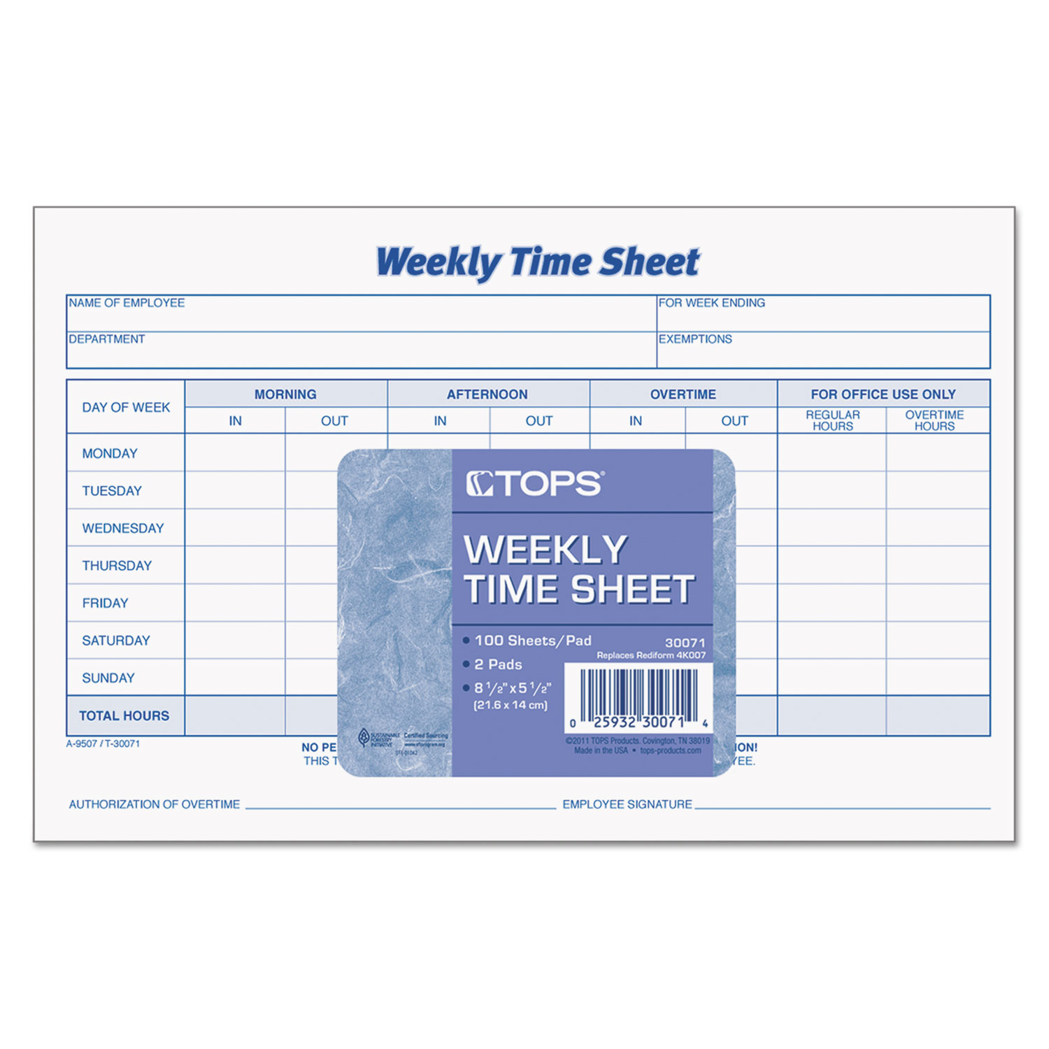 2 week time sheets