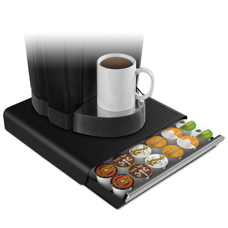 Coffee Pod Drawer, Fits 26 Pods, 14 3/4 X 13 1/4 X 2 3/4, Black