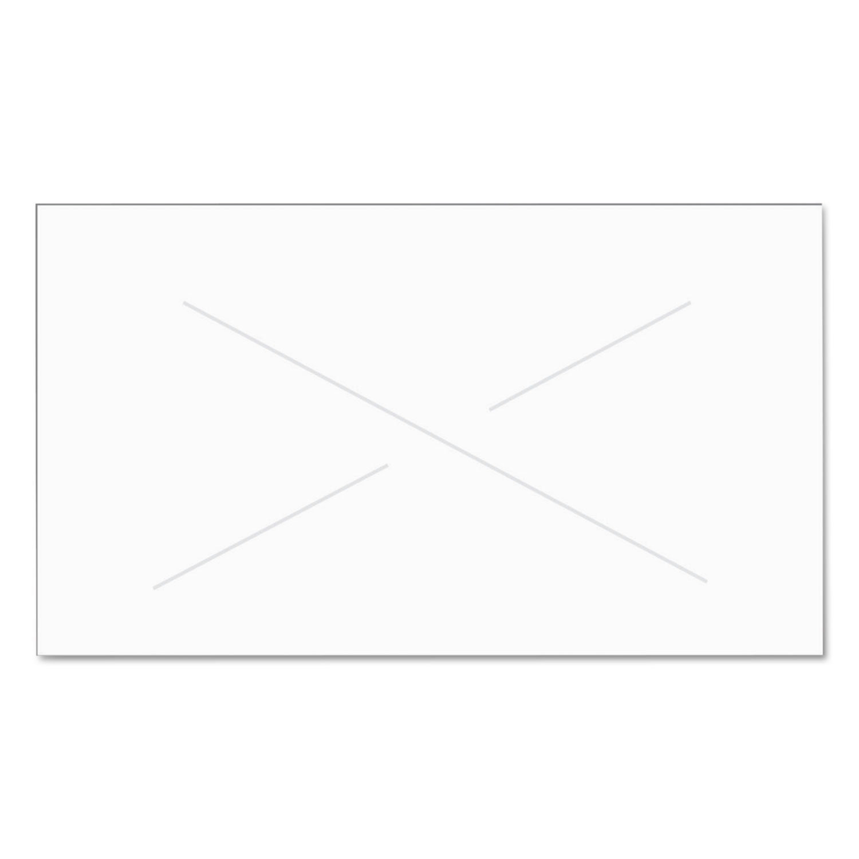 Pricemarker Labels, 0.44 x 0.81, White, 1,200/Roll, 16 Rolls/Box