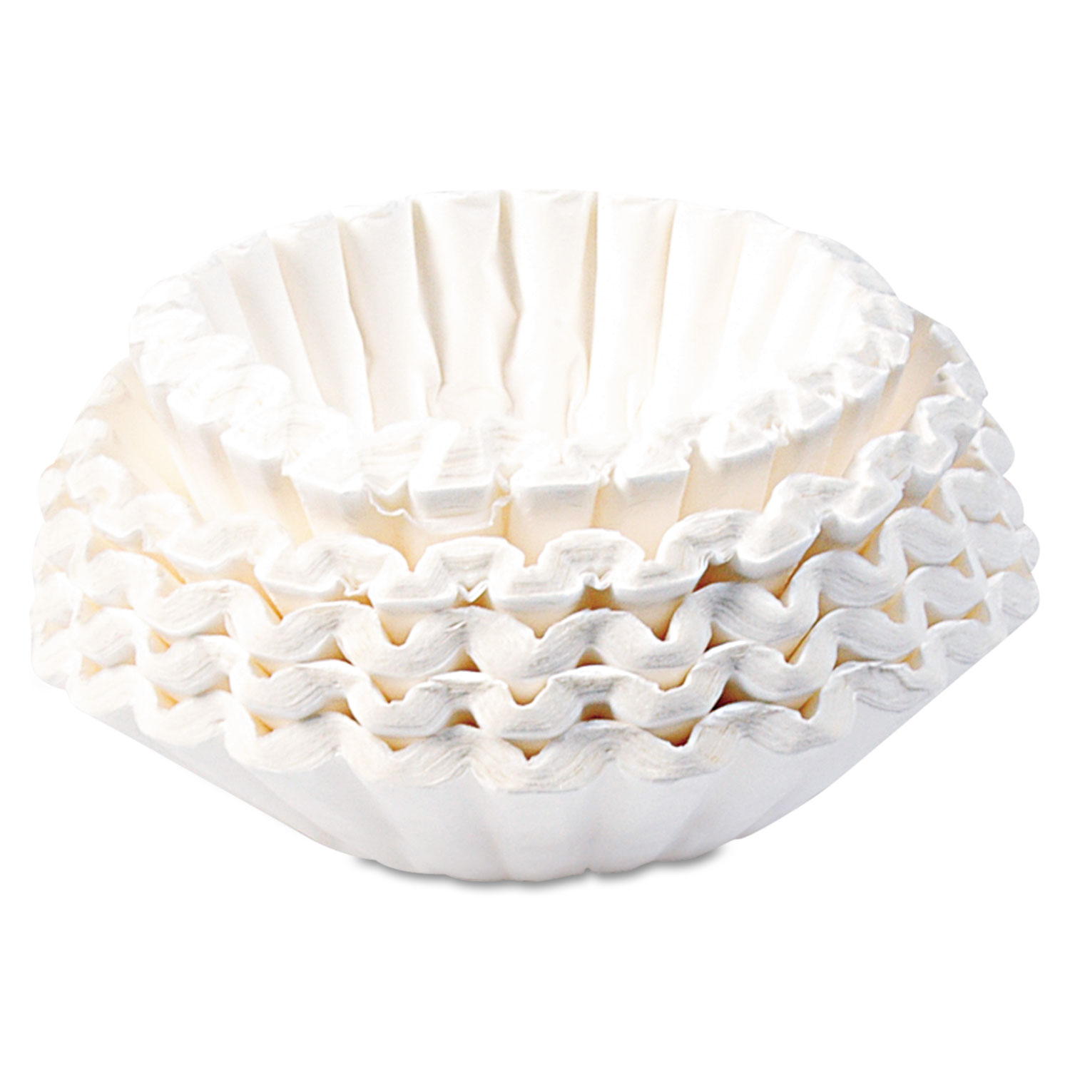 Commercial Coffee Filters, 12-Cup Size, 1000/Carton
