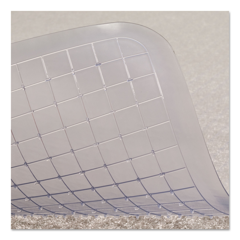 Crystal Pane Ergonomic Chair Mat for Medium Pile Carpet by ES – 45 X 53 Chair Mat