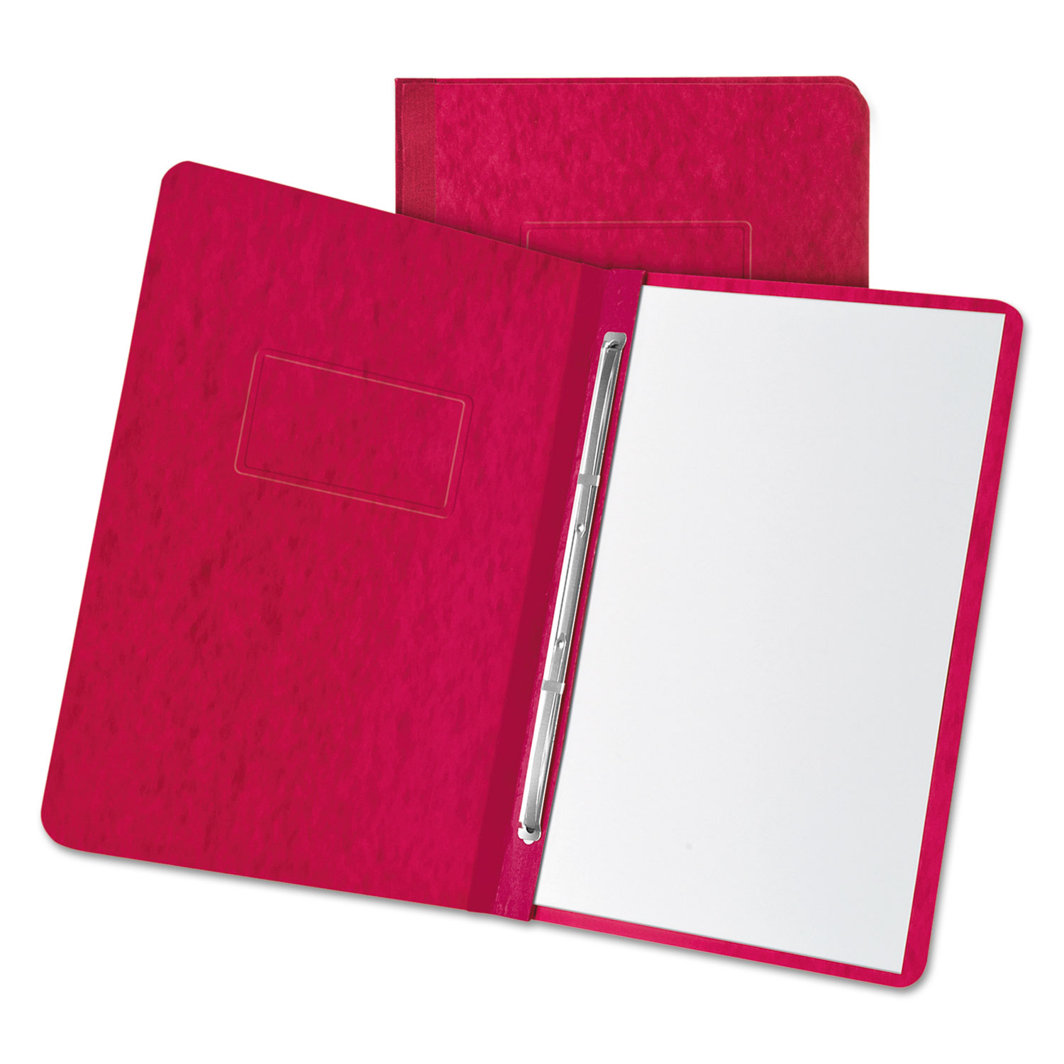 """Pressboard Report Cover, 2 Prong Fastener, Letter, 3"""" Capacity, Executive Red"""