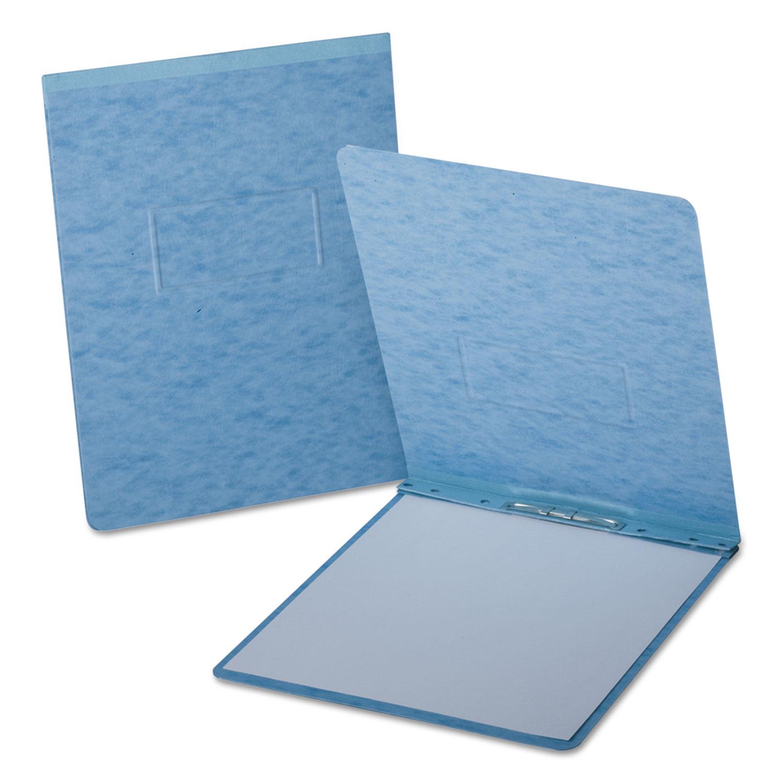 "PressGuard Report Cover, Prong Clip, Letter, 2"" Capacity, Light Blue"