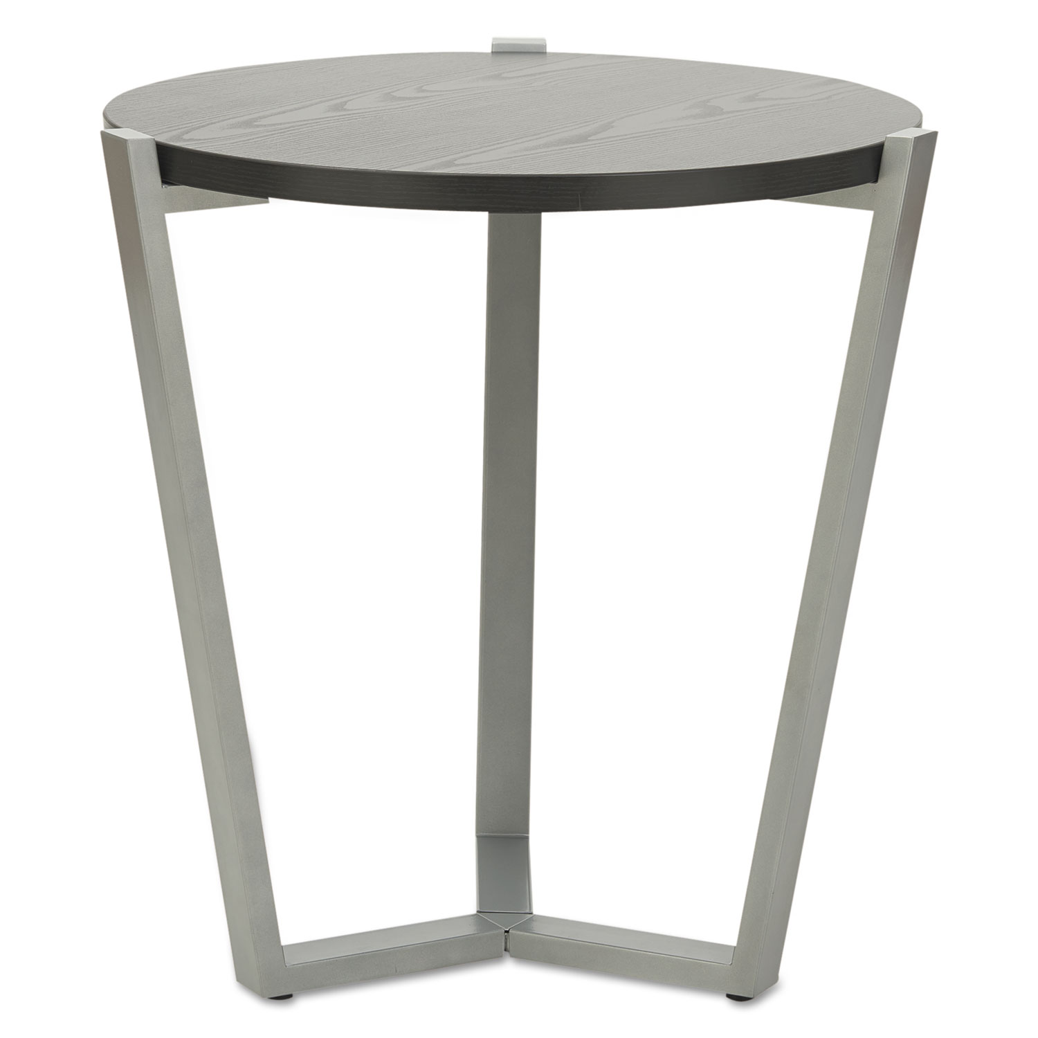Charmant Round Occasional Corner Table, 21 1/4 Dia X 22 3/4h, Black/Silver