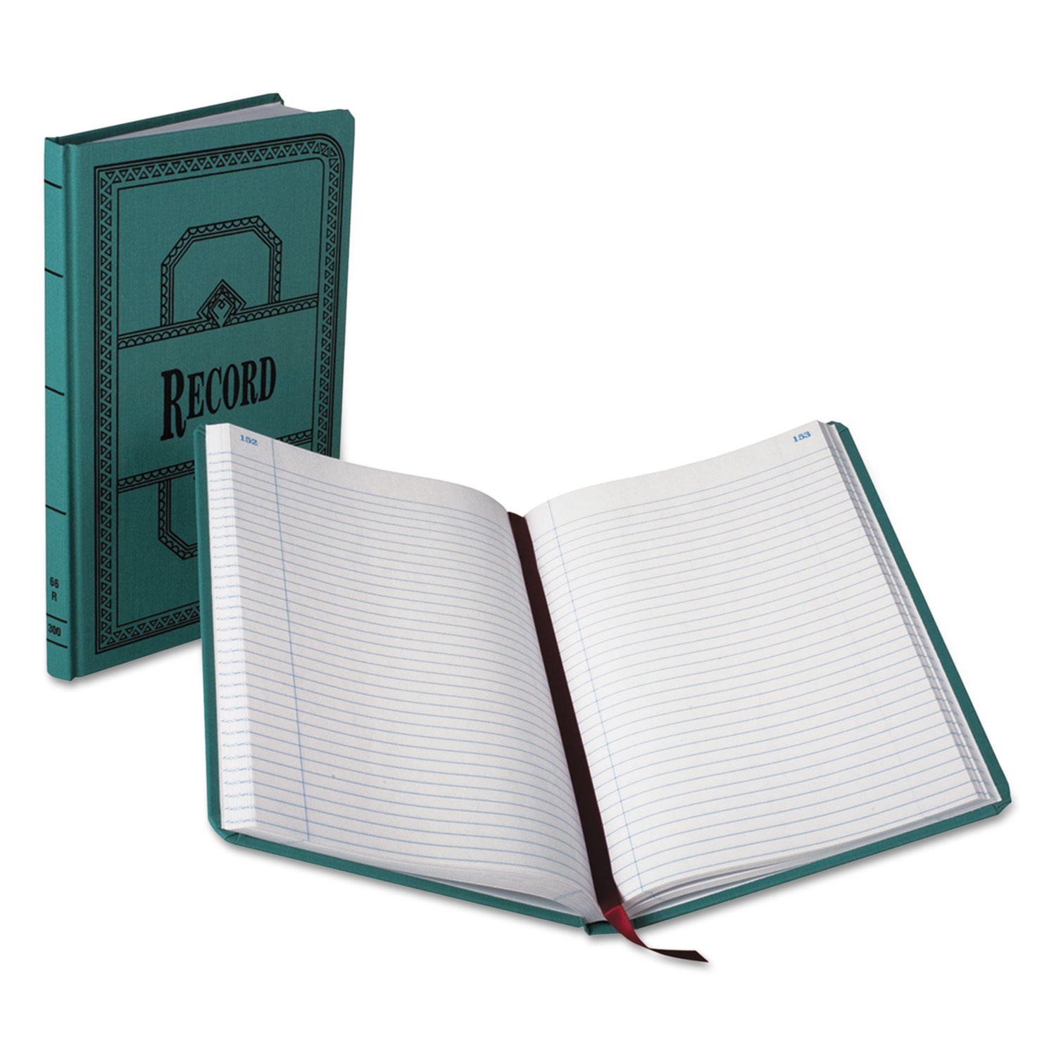 Record/Account Book, Record Rule, Blue, 300 Pages, 12 1/8 x 7 5/8