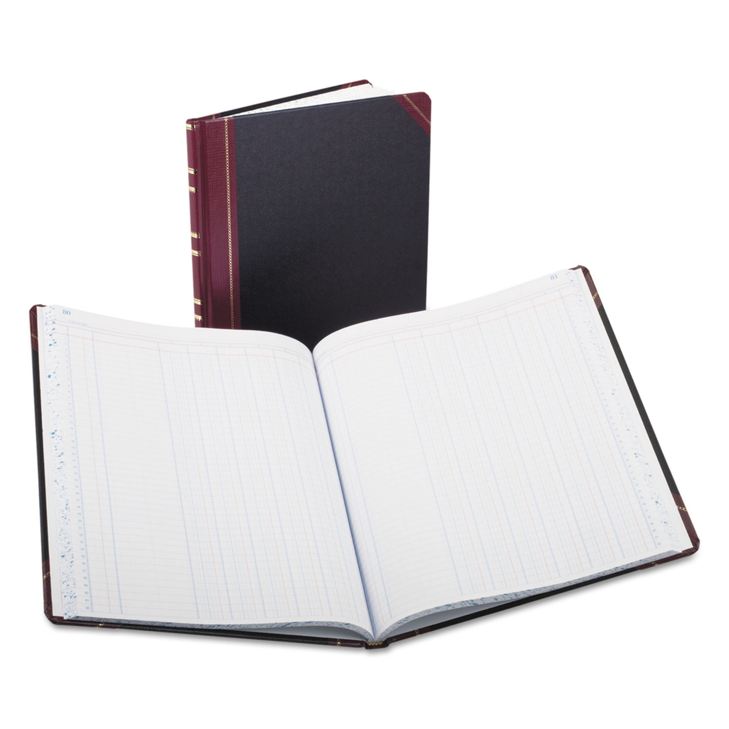 Columnar Accounting Book, 6 Column, Black Cover, 150 Pages, 10 1/8 x 12 1/4