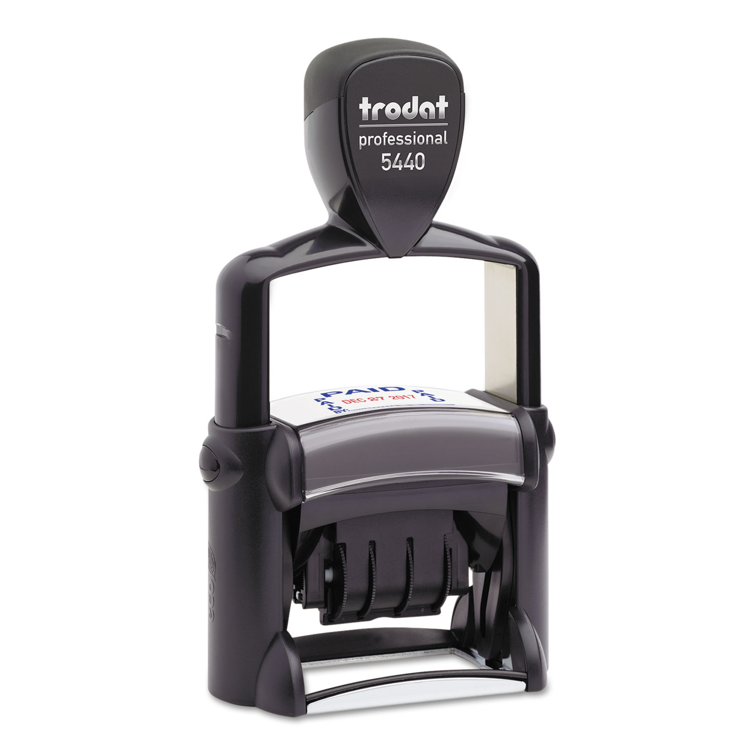 Trodat Professional 5-in-1 Date Stamp, Self-Inking, 1.13 x 2, Blue/Red