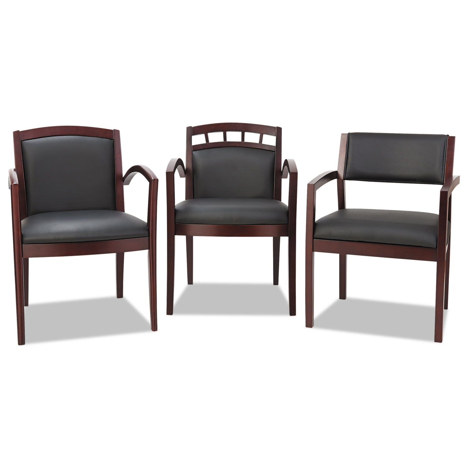 Alera Reception Lounge 500 Series Arch Solid Wood Chair By
