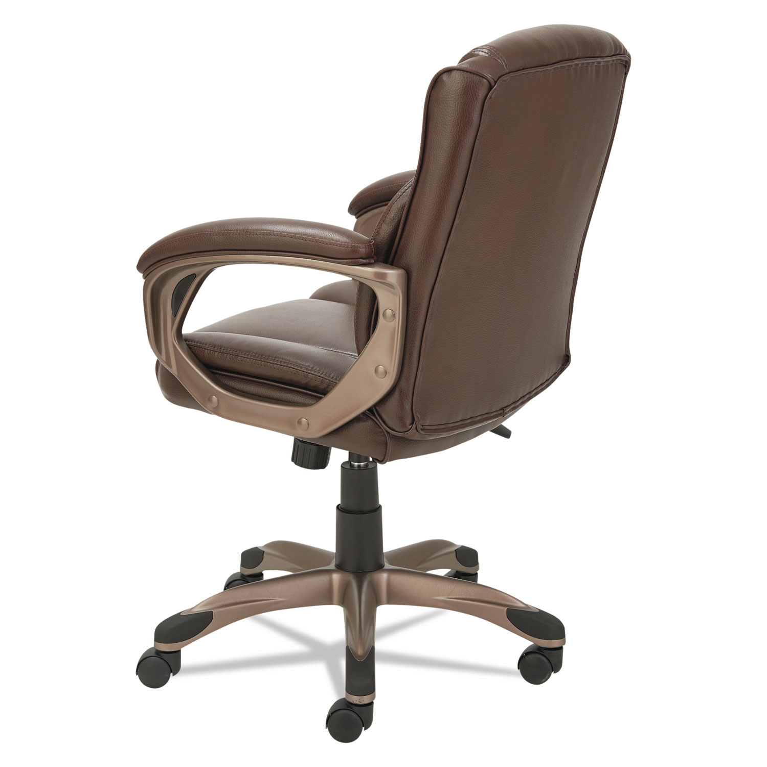 Delicieux Alera Veon Series Low Back Leather Task Chair W/Coil Spring Cushion, Brown