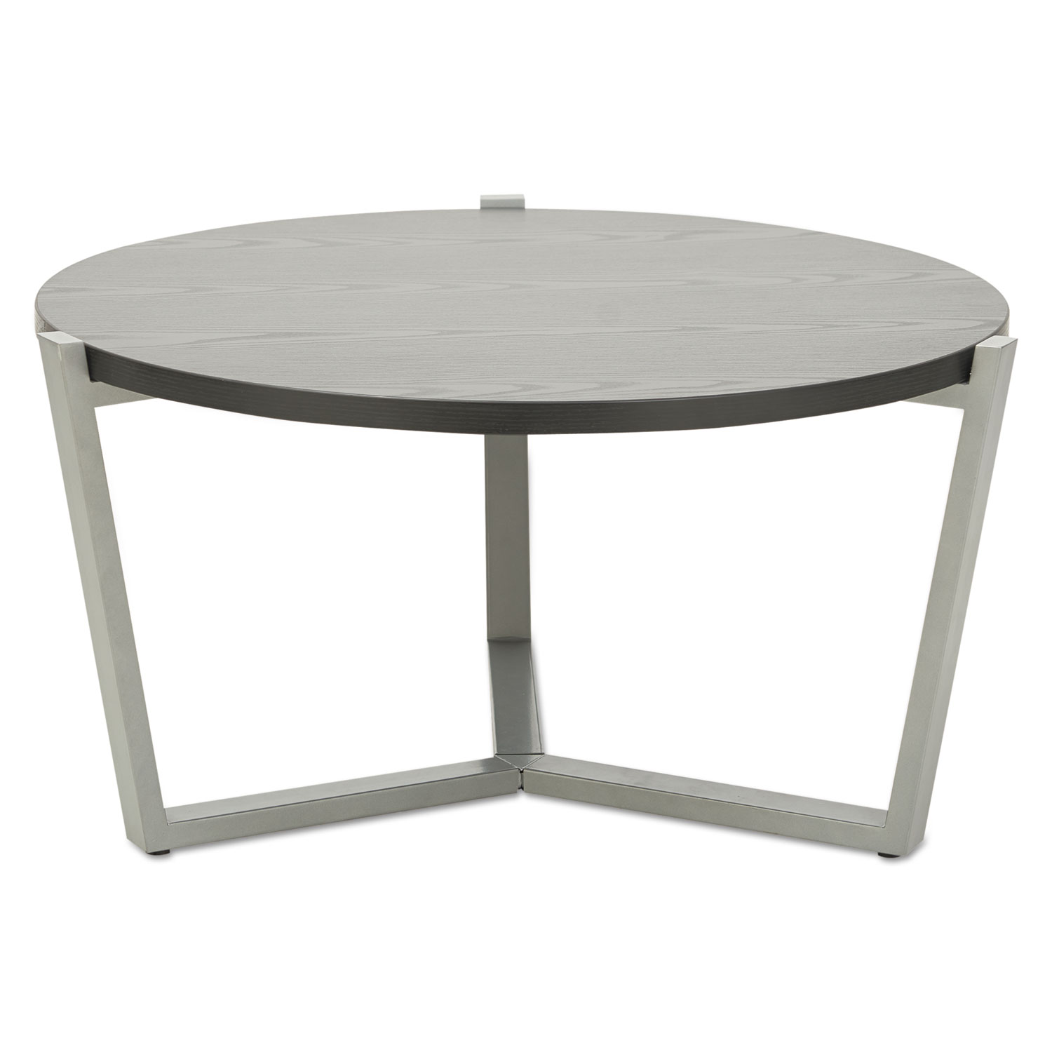 Round Occasional Coffee Table 29 3 8 Dia X 15 1 2h Black Silver