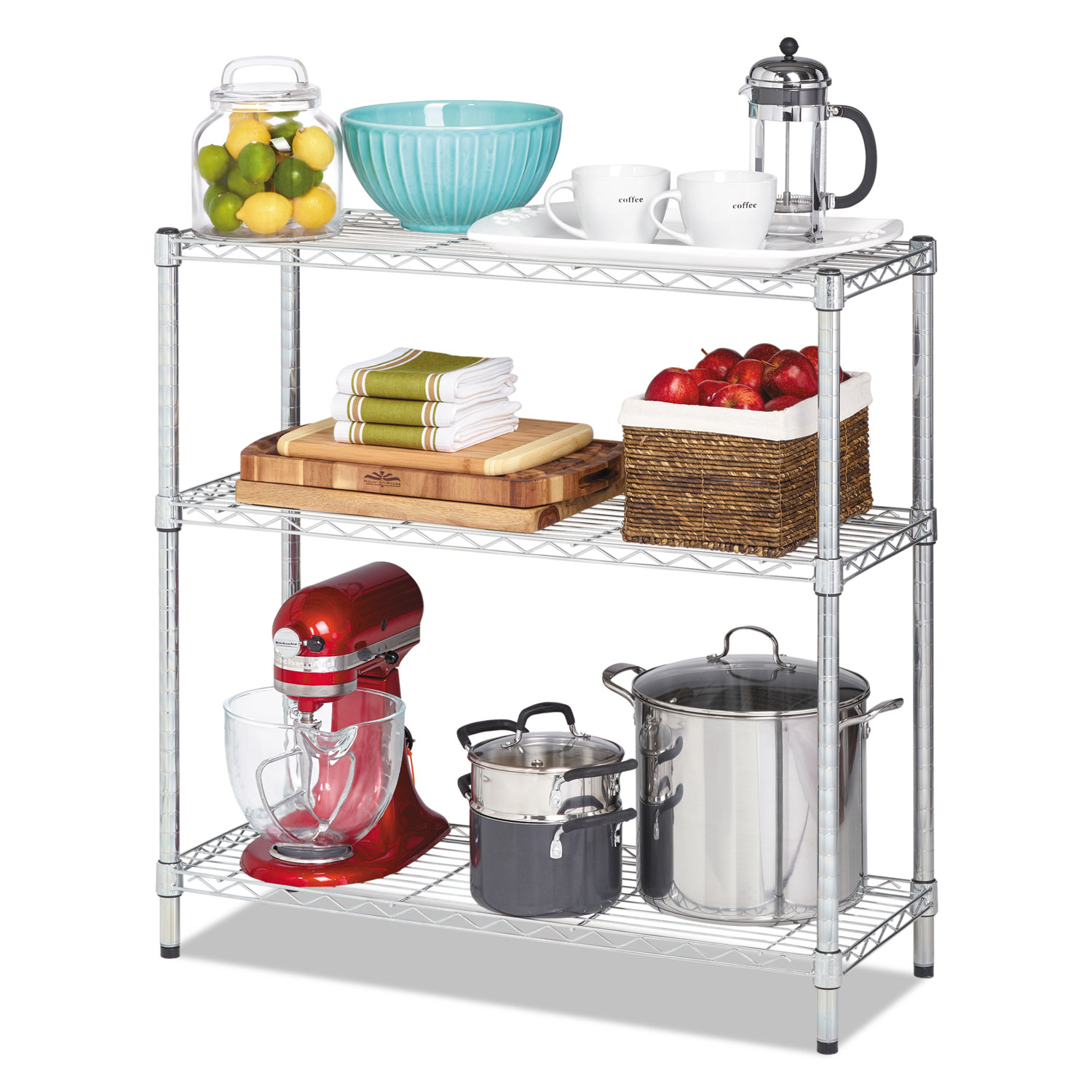 Residential Wire Shelving by Alera® ALESW833614SR - OnTimeSupplies.com