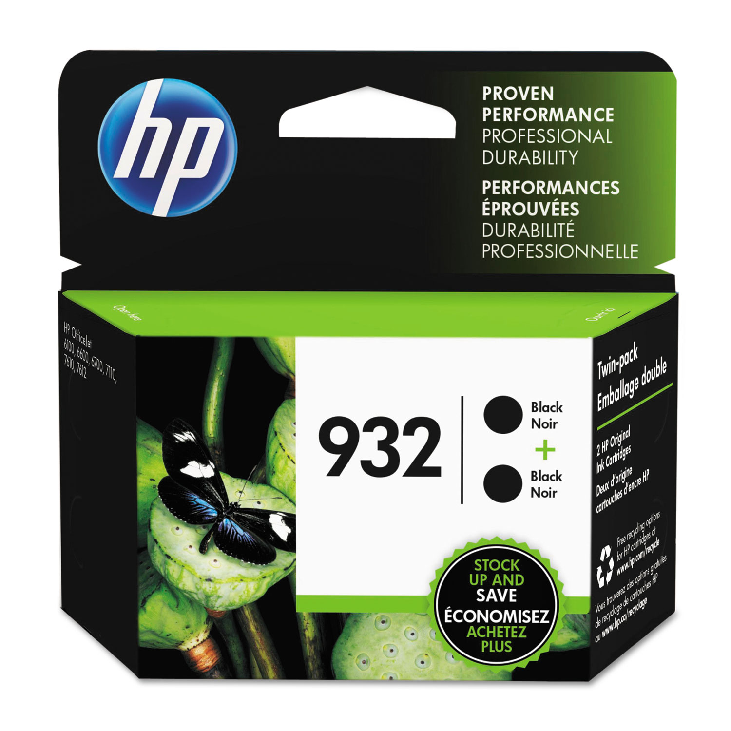 HP 932, L0S27AN Black Original Ink Cartridge