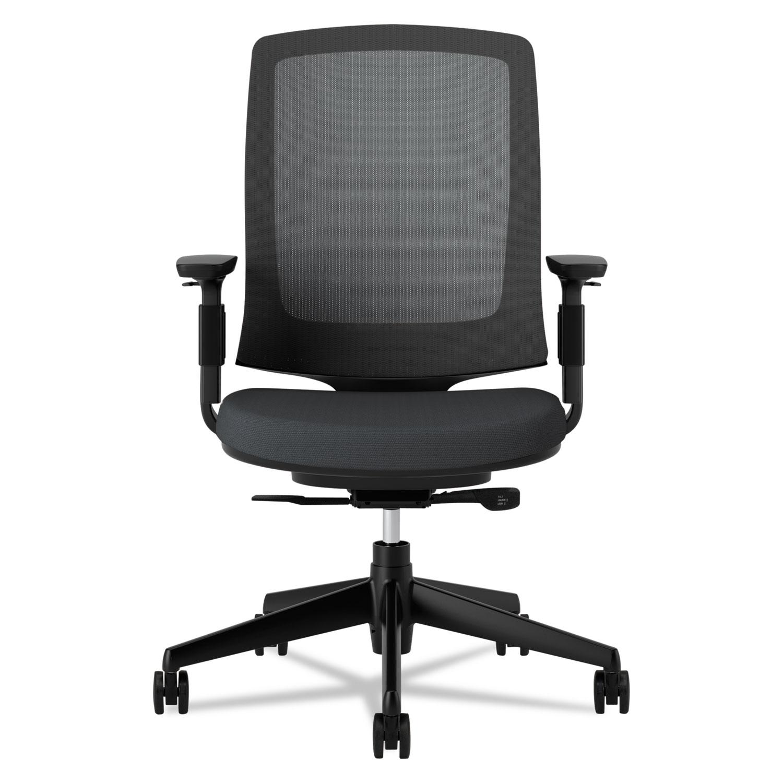 Black fabric chair - Lota Series Mesh Mid Back Work Chair Black Fabric Black Base