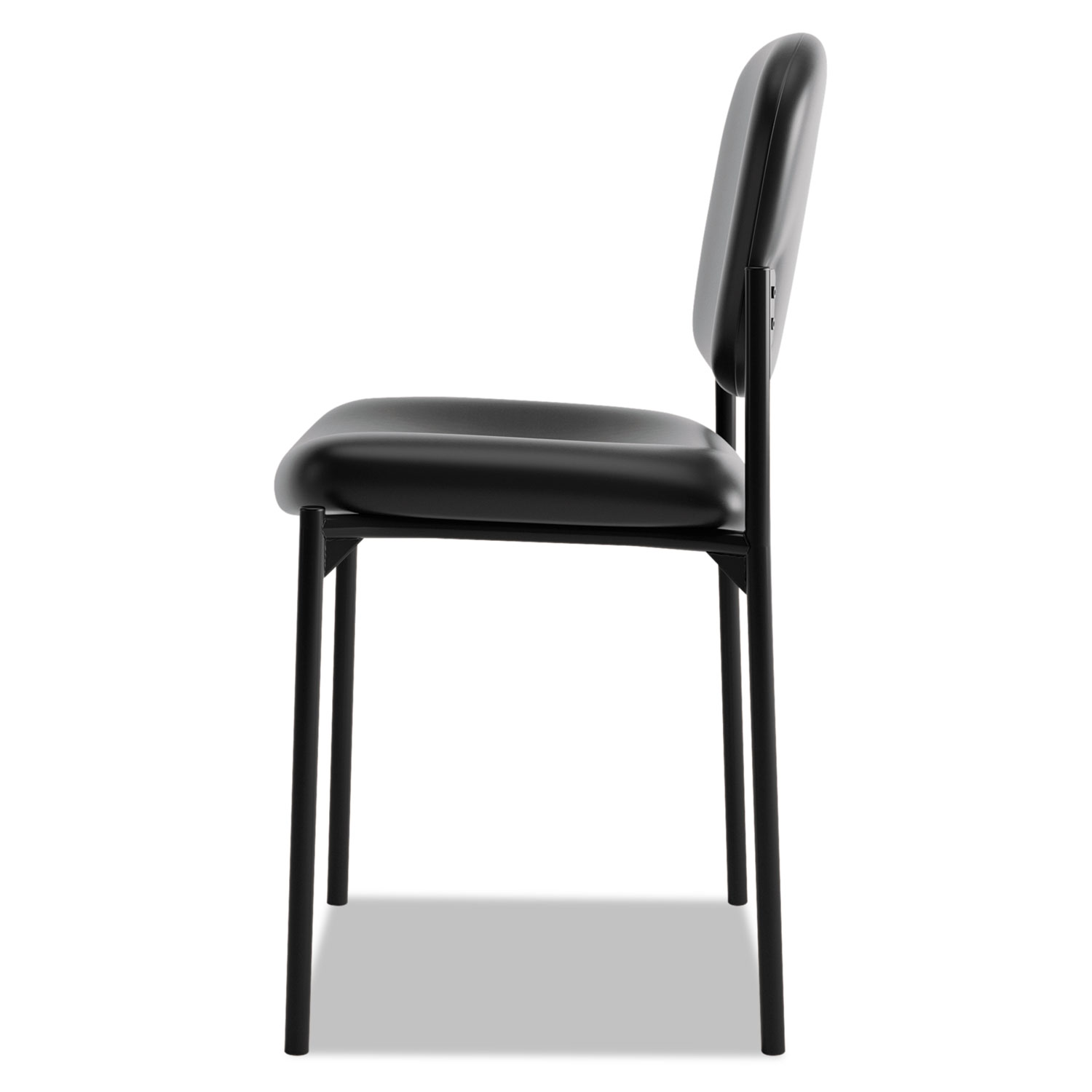 vl606 series stacking armless guest chair by hon bsxvl606sb11