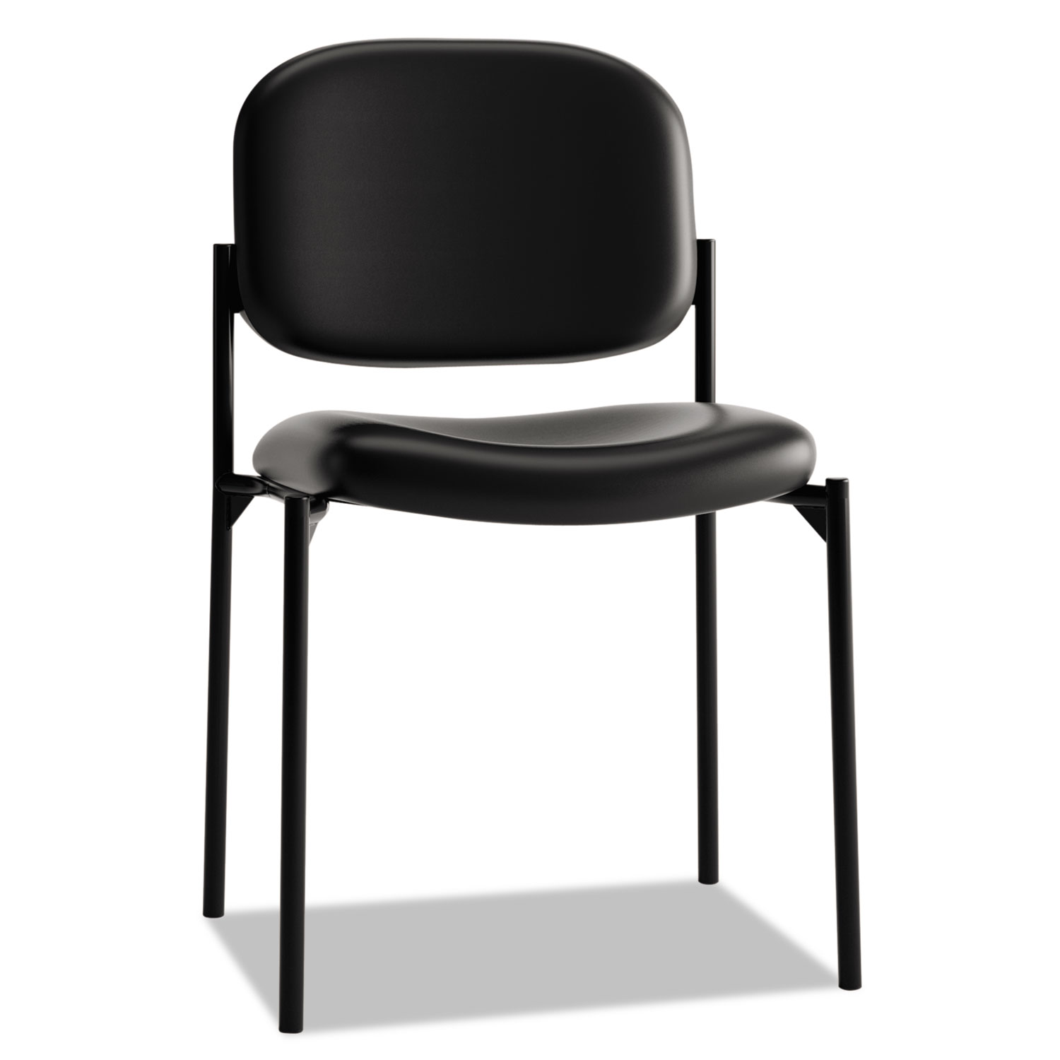 Vl606 Stacking Guest Chair Without Arms Black Seat Black