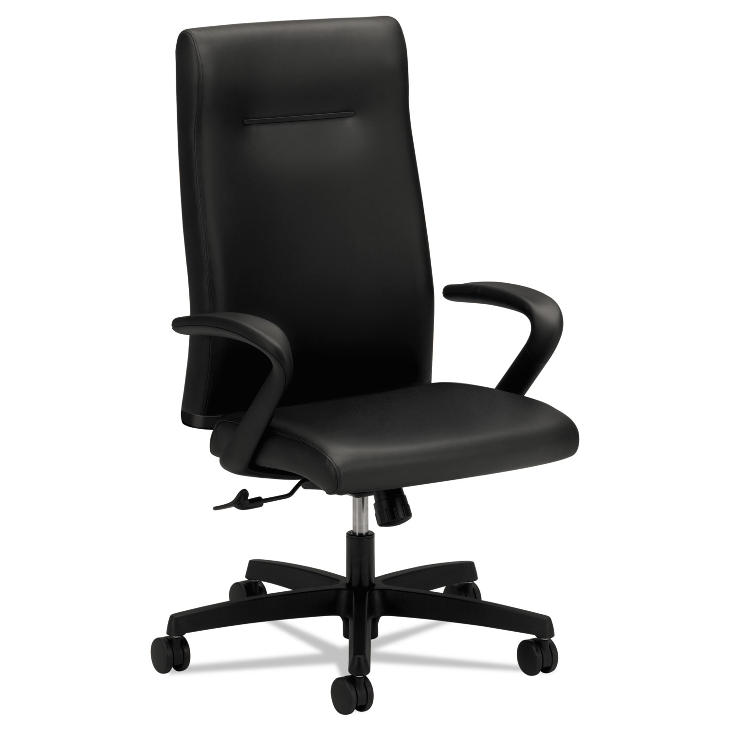 Ignition Series Executive High Back Chair Black Leather Upholstery