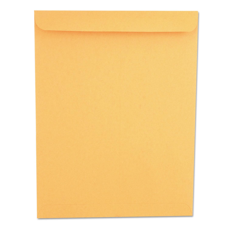 Catalog Envelope, #13 1/2, Squ Flap, Gummed Closure, 10 x 13, Brown Kraft, 250/Box