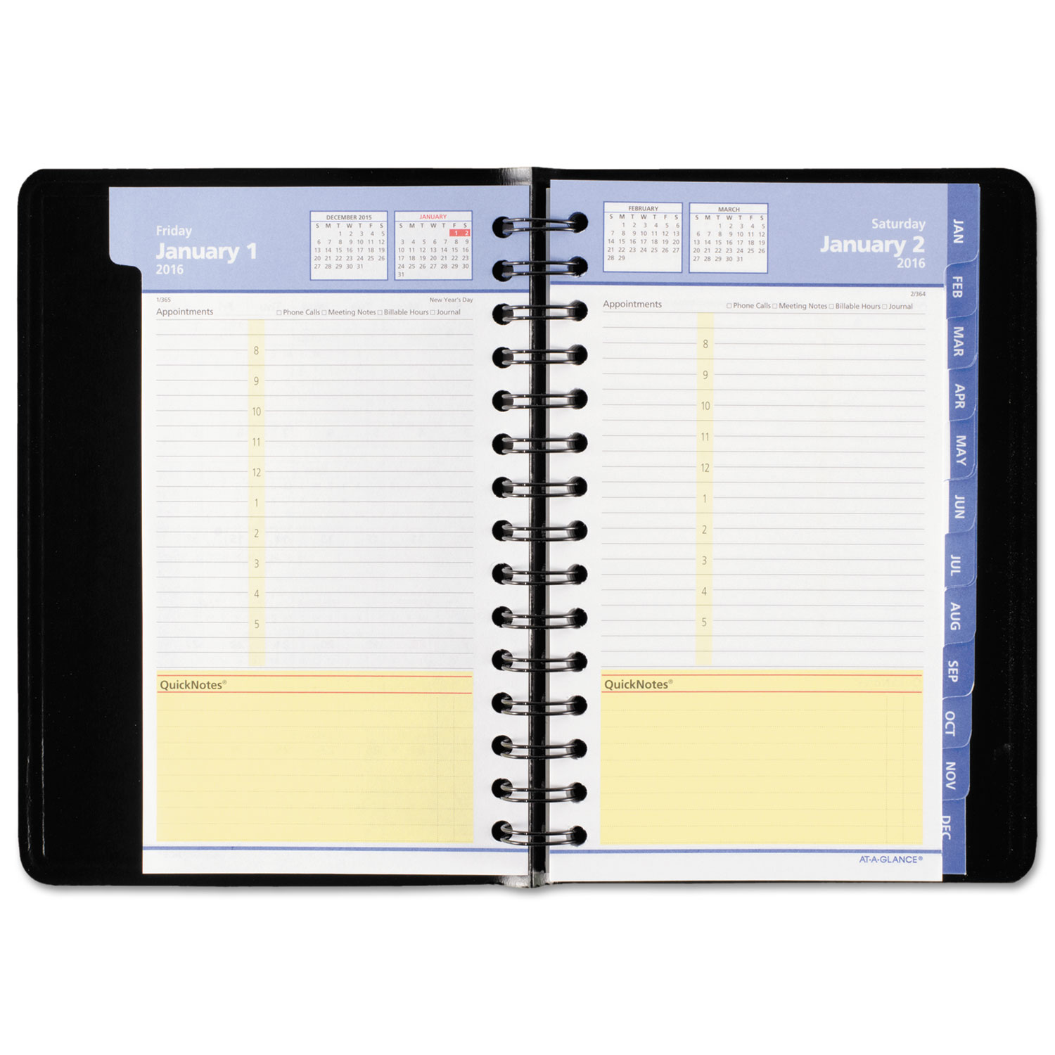 quicknotes daily  monthly appointment book  planner by at
