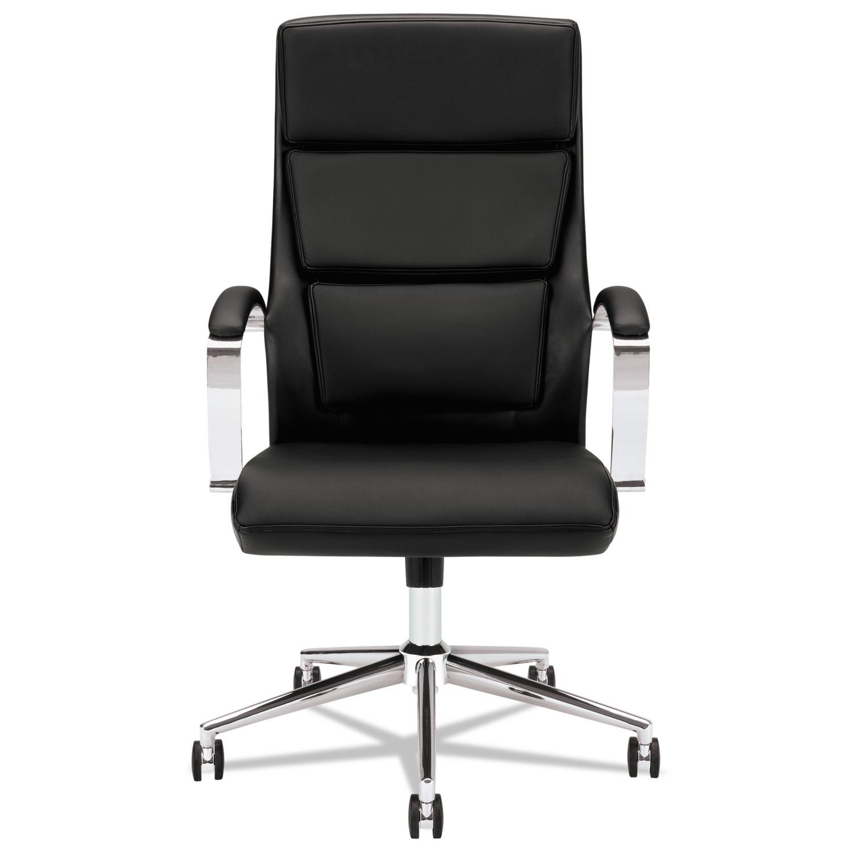 Merveilleux VL105 Series Executive High Back Chair, Black Leather