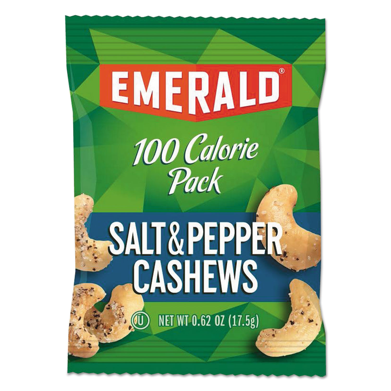 100 Calorie Pack Nuts, Salt and Pepper Cashews, 0.62 oz Pack, 7/Box