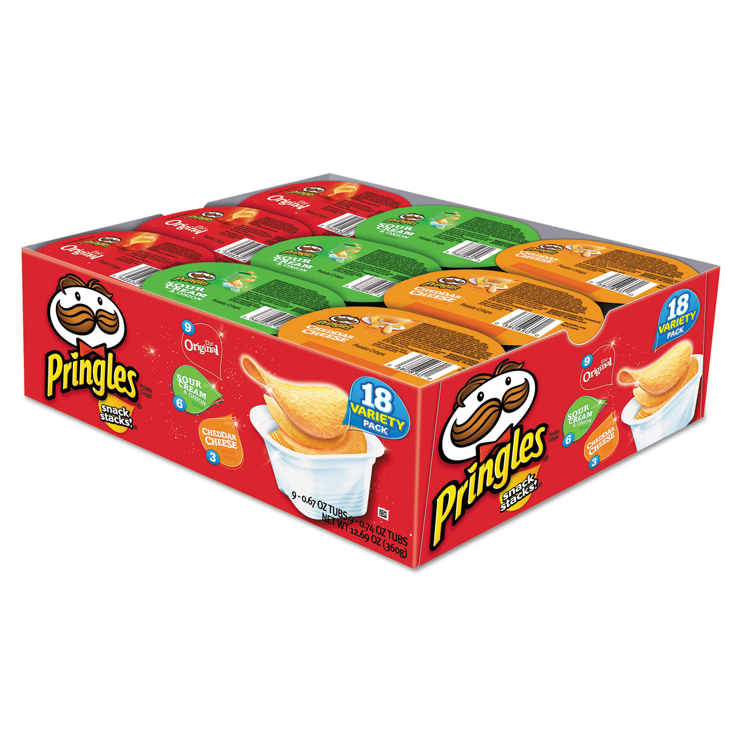 Potato Chips Variety Pack 0 74 Oz Canister 18 Box