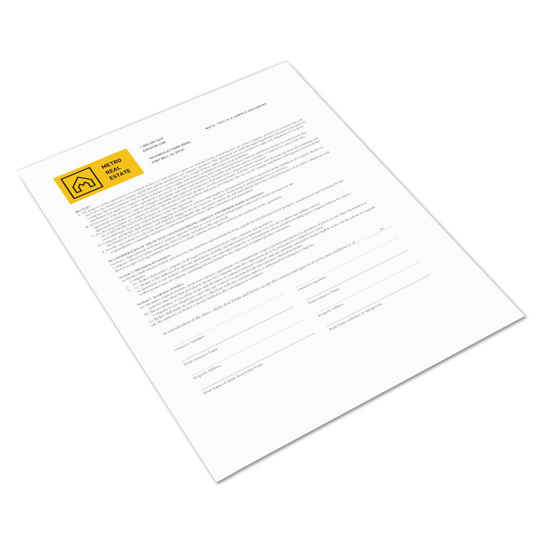 Revolution Digital Carbonless Paper, 1-Part, 8.5 x 11, White, 500/Ream