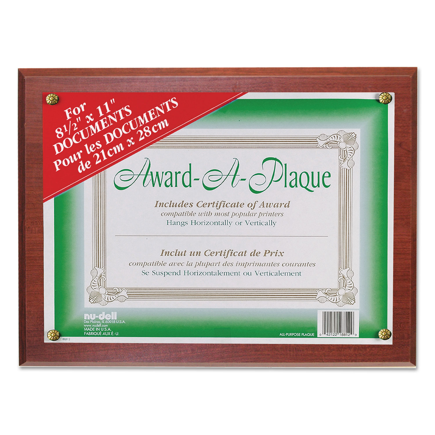Award-A-Plaque Document Holder by NuDell™ NUD18813M - OnTimeSupplies.com