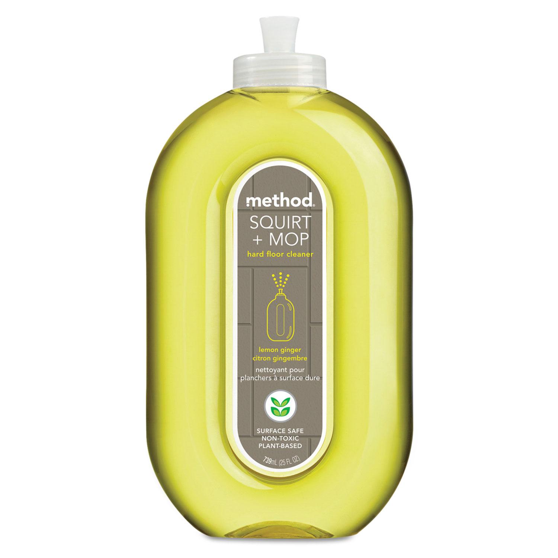 Squirt + Mop Hard Floor Cleaner, 25 oz Spray Bottle, Lemon Ginger Scent