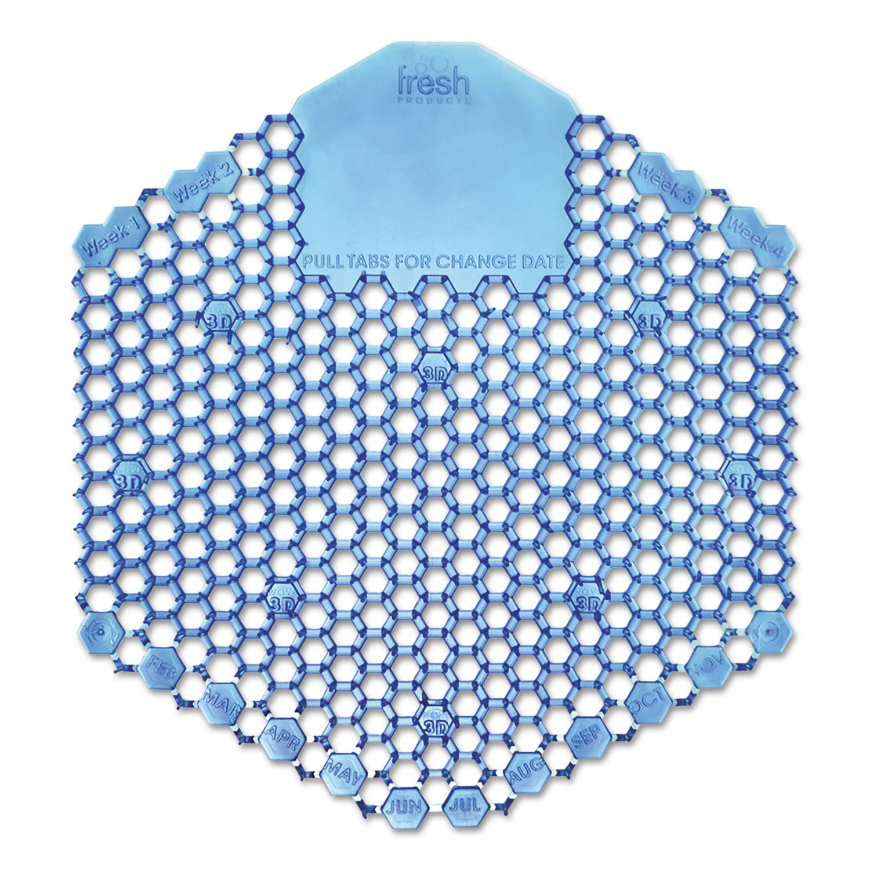 Wave 3D Urinal Deodorizer Screen, Blue, Cotton Blossom, 10 Screens/Box