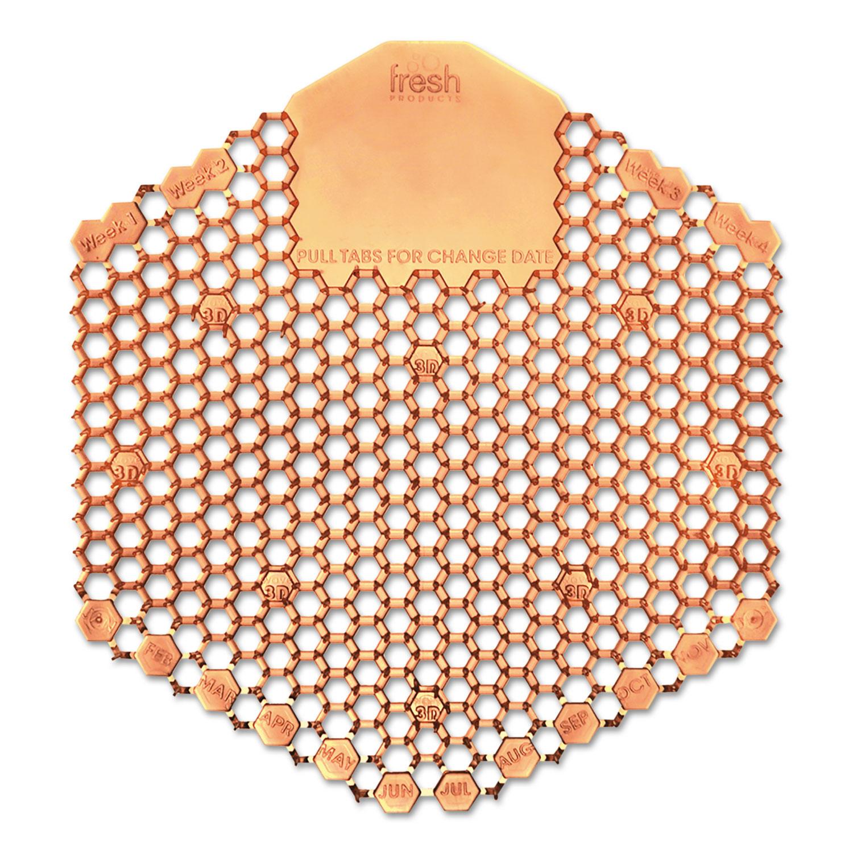 Wave 3D Urinal Deodorizer Screen, Orange, Mango Fragrance, 10 Screens/Box