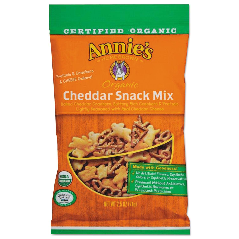 Organic Cheddar Snack Mix, 2.5 oz Bag, 12/Carton
