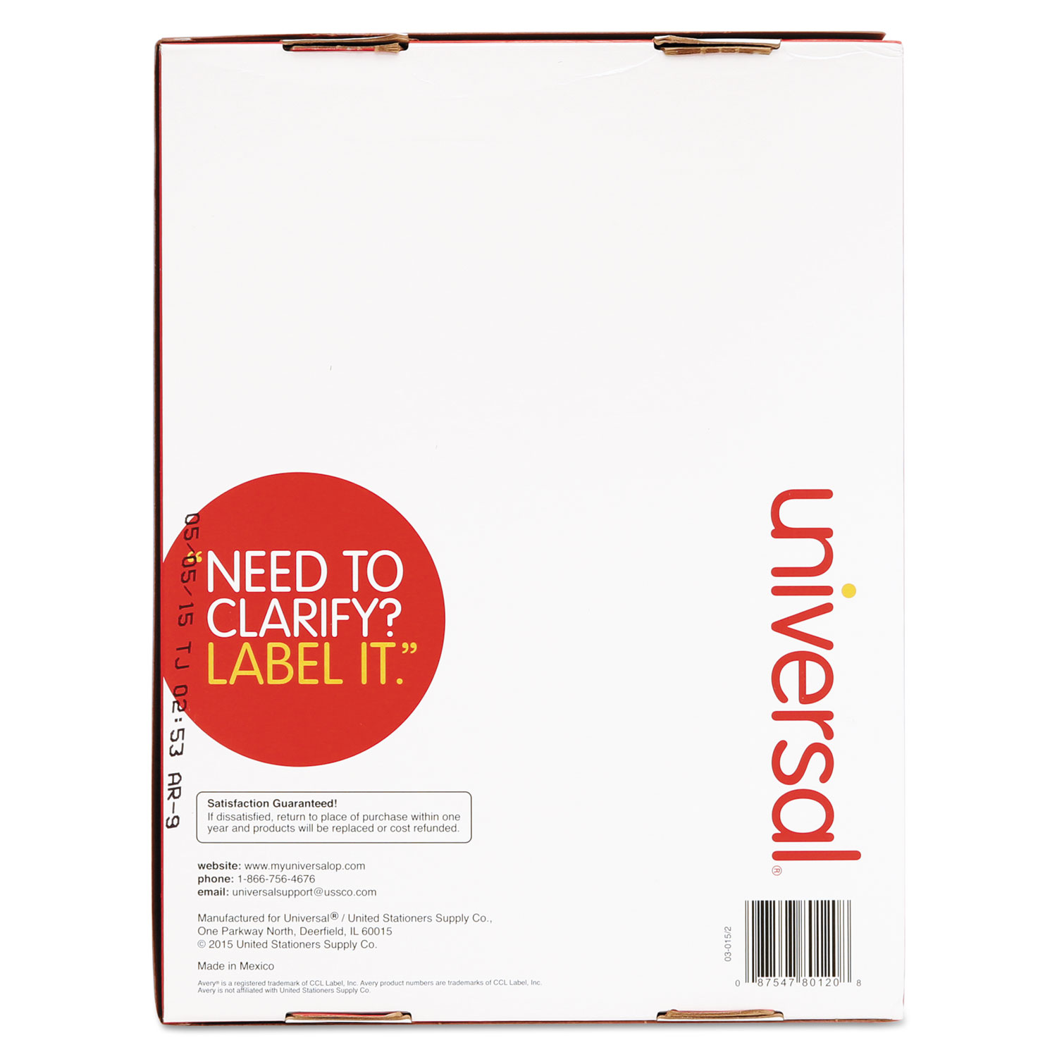Laser printer permanent labels by universal unv80120 for Universal laser printer labels template