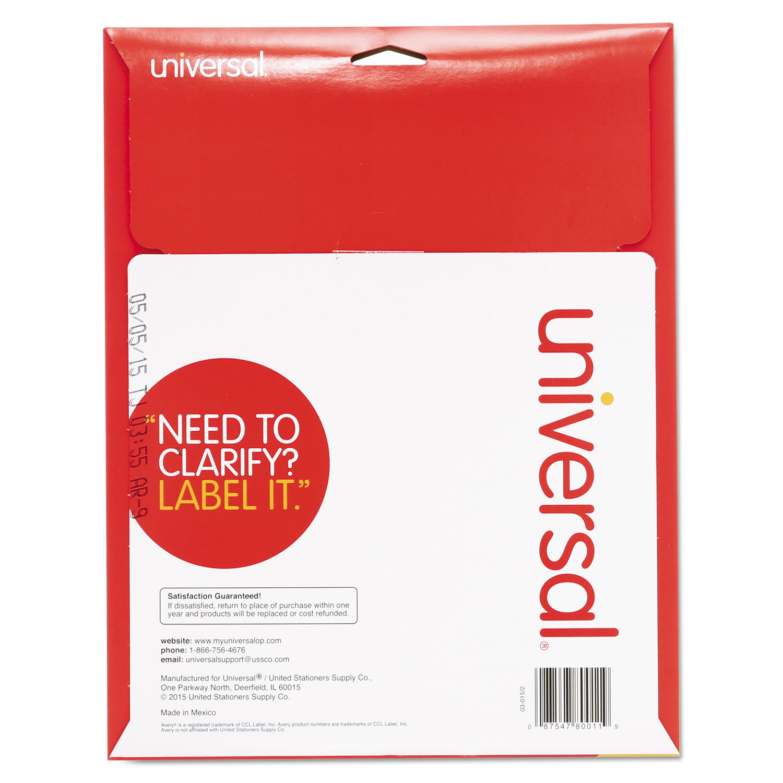 Laser Printer File Folder Labels By Universal Unv80011