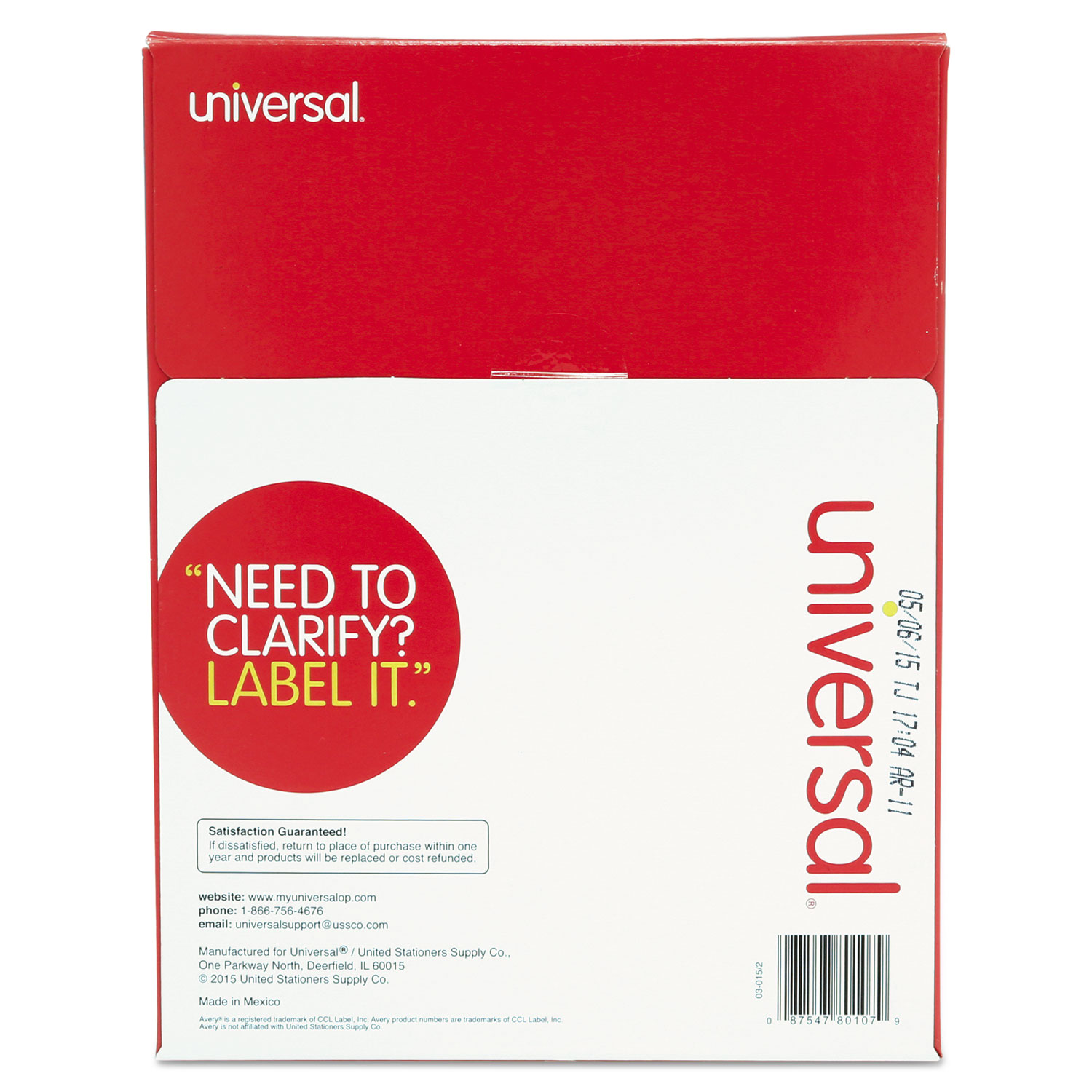 unv multipurpose mailing labels by universal