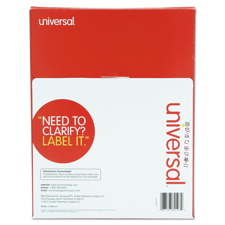 laser printer permanent labels by universal unv80108