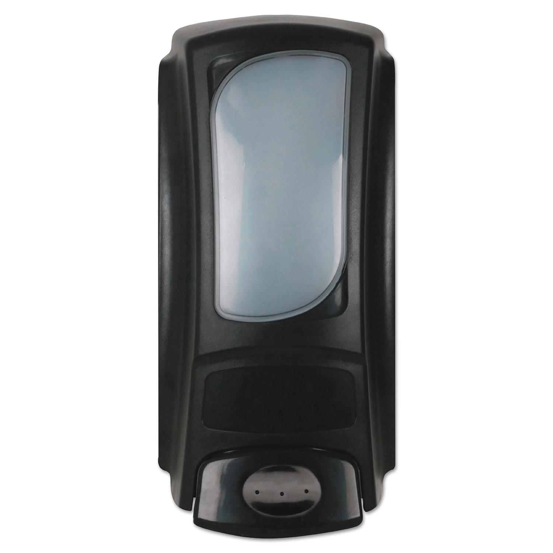 "Hand Care Anywhere Flex Bag Dispenser, 15 oz, 4"" x 3.1"" x 7.9"", Black"
