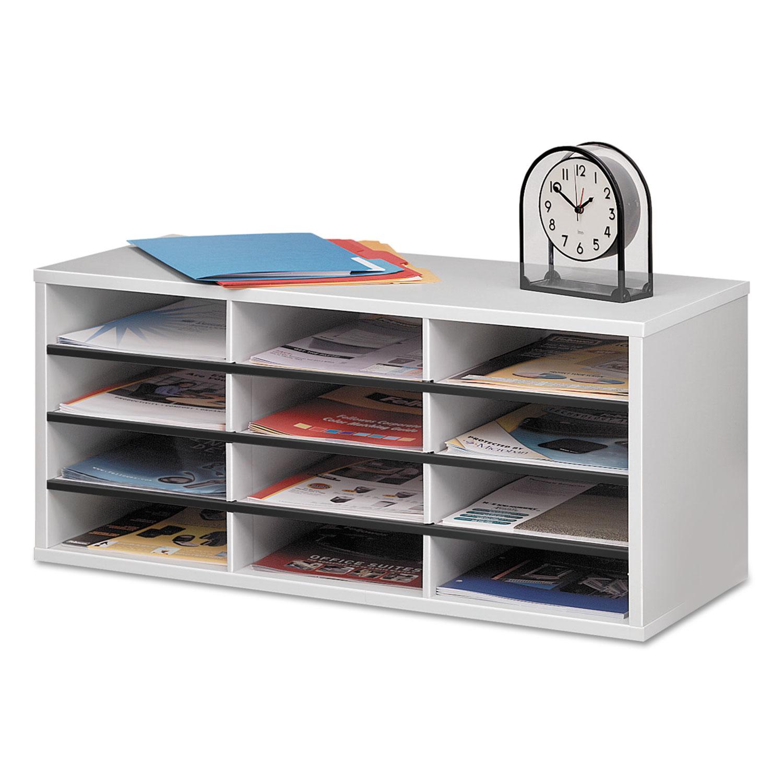 Roll Over Particle Board Desk ~ Particle board desktop sorter by fellowes fel