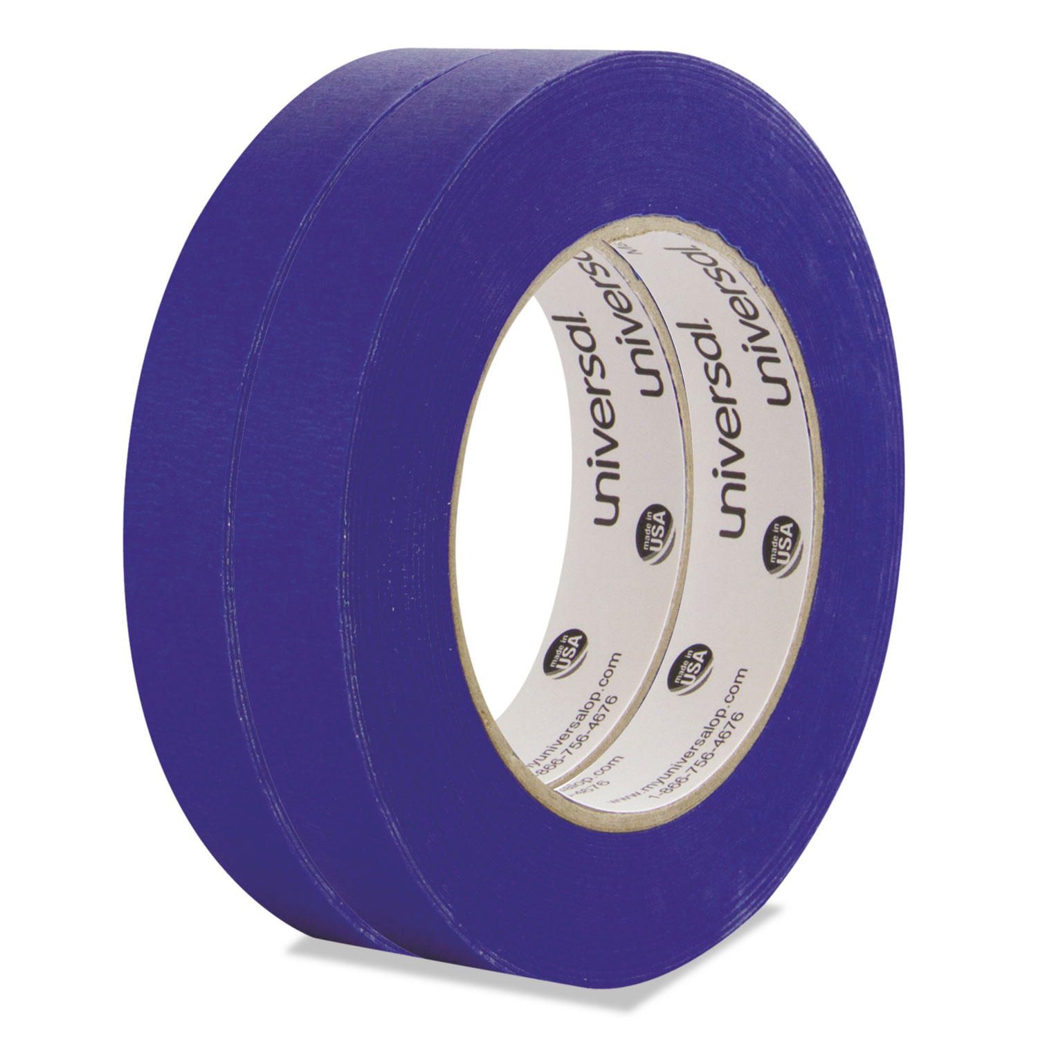 Premium Blue Masking Tape, 18mm X 54.8m, Blue, 2/Pack