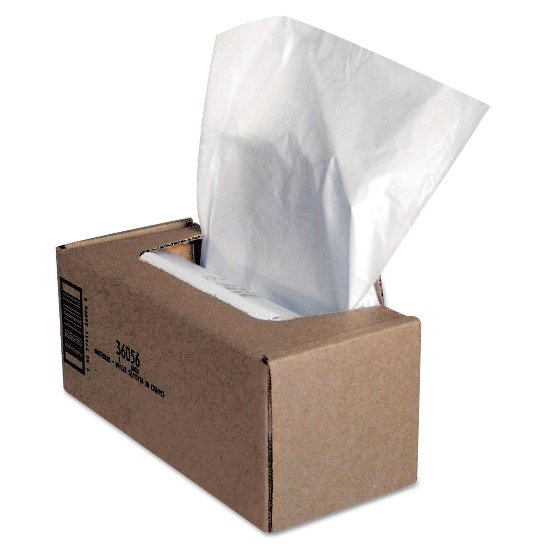 Shredder Waste Bags, 25 gal Capacity, 50/Carton