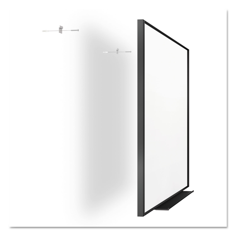 fusion nano clean magnetic whiteboard 36 x 24 black frame - Magnetic White Board