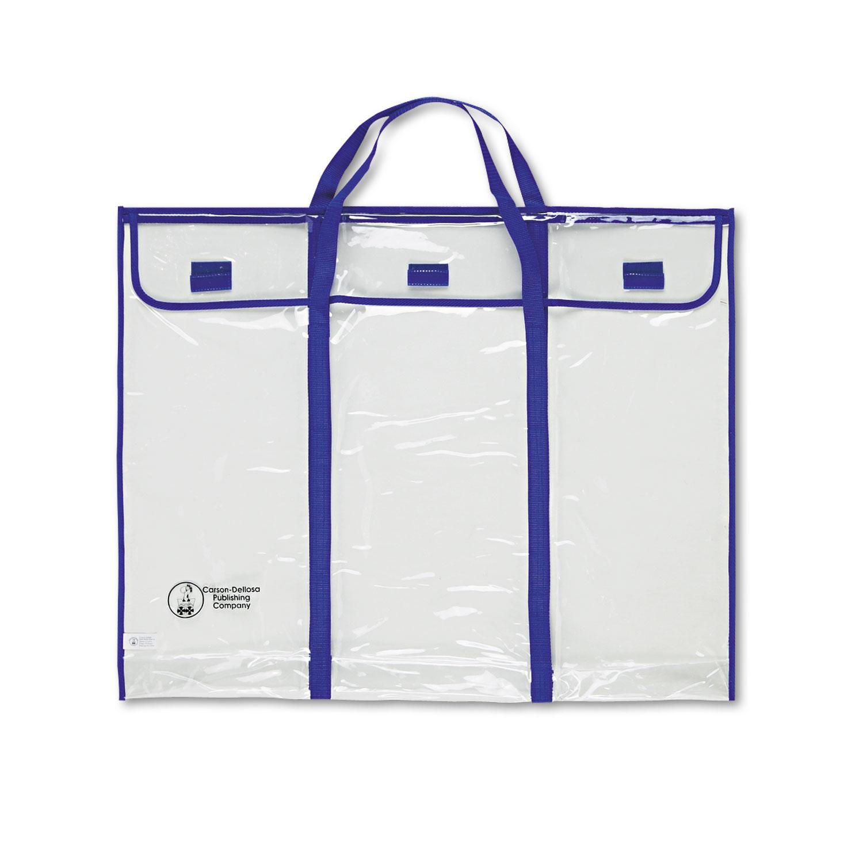 """Bulletin Board Storage Bag, Blue/Clear, 30"""" x 24"""""""