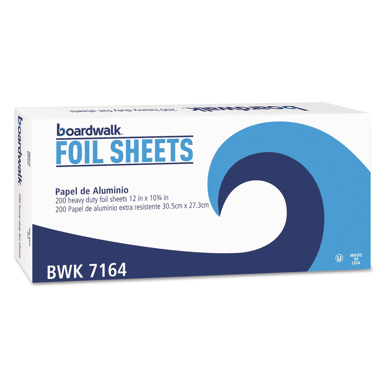 "Heavy-Duty Aluminum Foil Pop-Up Sheets, 12"" x 10 3/4"", 200/Box, 12 Boxes/Carton"
