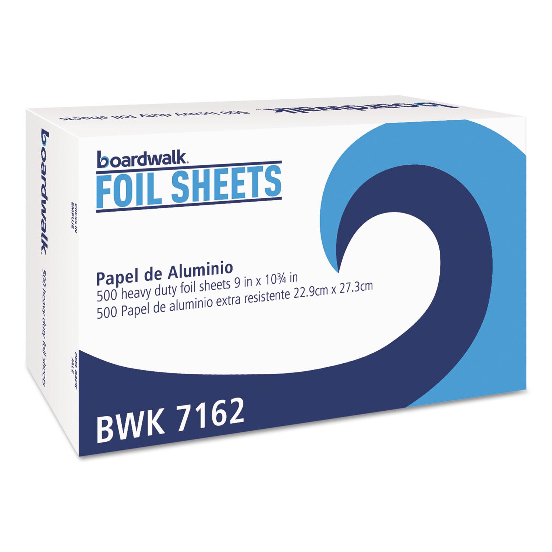 "Standard Aluminum Foil Pop-Up Sheets, 9"" x 10 3/4"", 500/Box, 6 Boxes/Carton"