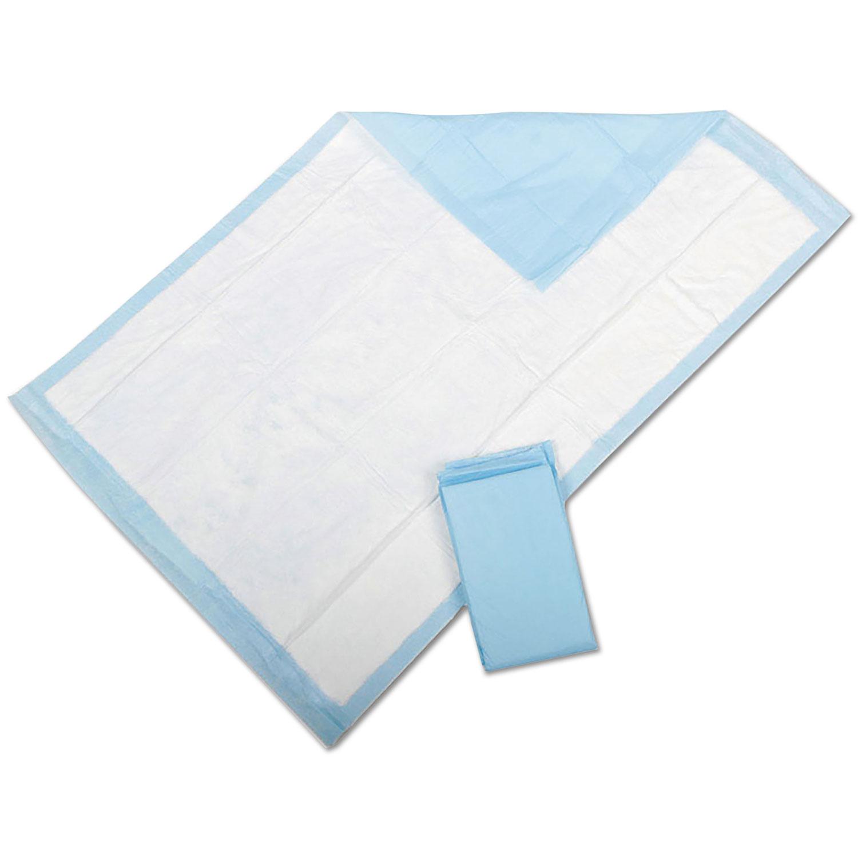 """Protection Plus Disposable Underpads, 23"""" x 36"""", Blue, 25/Bag"""