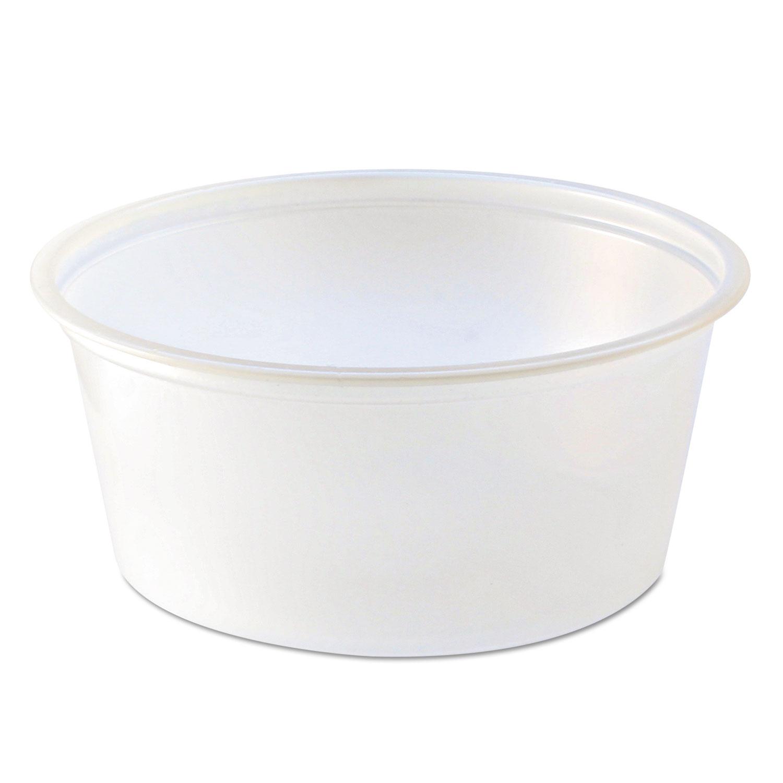 Portion Cups, 3 1/4 Oz, Translucent, 125/Sleeve, 20 Sleeve/Carton